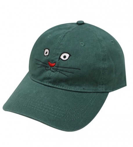 City Hunter C104 Cat Face Cotton Baseball Caps 18 Colors - Hunter Green - CP17Z5H6E52