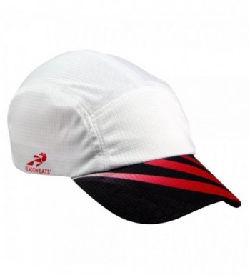 Headsweats Grid Race High Performance Running/Outdoor Sports Hat - Sublimated - White Sublimated Red/Black - CE11JCM2AV5