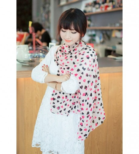 Aimery Womens Sweet Heart Chiffon in Fashion Scarves