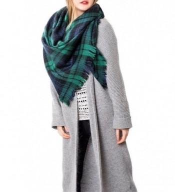 Zando Womens Stylish Blanket Tartan - Green - CR12LMALXRL