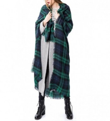 Zando Womens Stylish Blanket Tartan in Cold Weather Scarves & Wraps