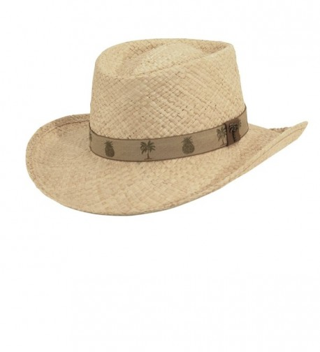 Scala Organic Raffia Gambler with Palm/pine HAT - CT11XN4QJX9