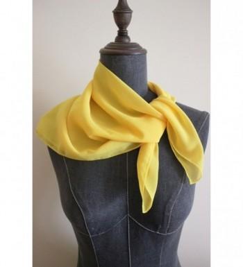 Solid Chiffon Square Neckerchief Yellow