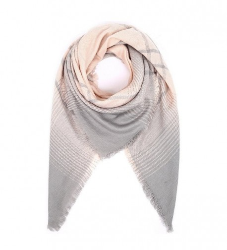 SQUARE blanket scarf plaid poncho - Pink - CM187WA08NK
