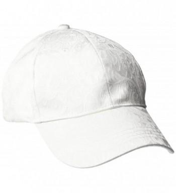 Collection XIIX Women's Lace Satin Baseball Cap - White - CV12O2XAODK