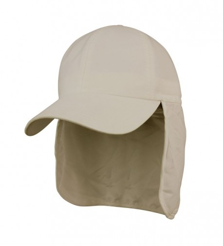 Juniper Brushed Microfiber Cap with Flap - Khaki - CP11LV4H39H