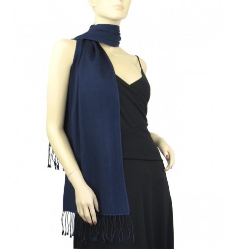 Pashmina / Silk Scarf Solid Colors - Midnight Blue - CF111K4GX5D