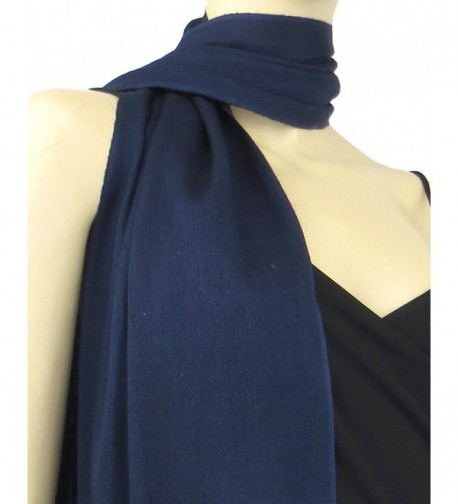 Pashmina Silk Scarf Midnight Blue
