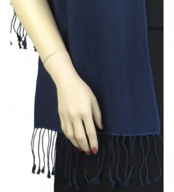 Pashmina Silk Scarf Midnight Blue in Fashion Scarves
