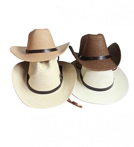 Opromo Adults Cowboy Summer Foldable Khaki Kids