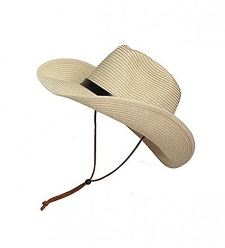 Opromo Adults Cowboy Summer Foldable Khaki Kids in Men's Cowboy Hats