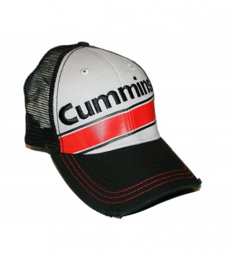 Cummins Diesel Engines Frayed Worn Look Trucker Mesh Cap - C317XDA8HYH