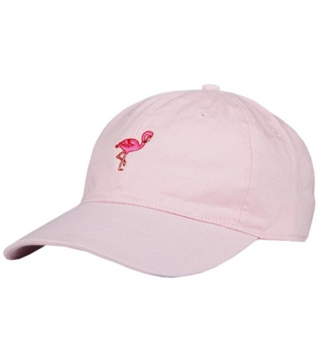 City Hunter C104 Flamingo Small Embroidery Cotton Baseball Cap 13 Colors - Pink - CX12HJSDZG3