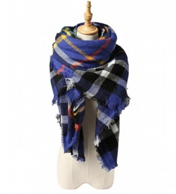 Spring fever Women Colorful Tartan Checked Plaid Shawl Soft Blanket Large Scarf - A08 - CS12LA0HH37