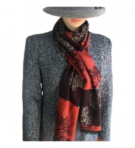 5Dreams Paisley Jacquard orange coffee in Fashion Scarves