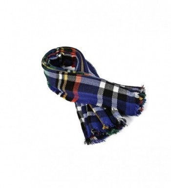 Spring fever Colorful Checked Blanket in Cold Weather Scarves & Wraps