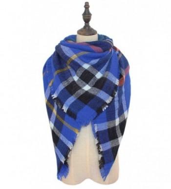 Fashion Womens Winter Plaid Blanket