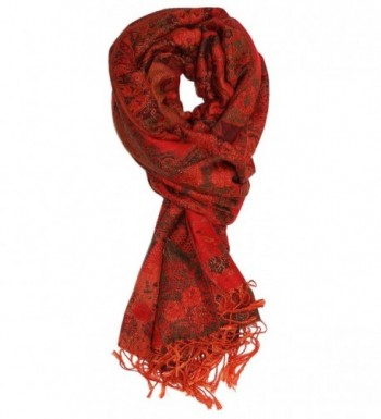 Ted and Jack - Luxe Classic Tapestry Reversible Pashmina - Rich Red - CS12O66F0SB