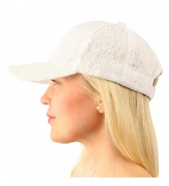 Everyday Lace Light Plain Blank Baseball Sun Visor Solid Ball Cap Dad Hat - White - CC17Z2ECU8N