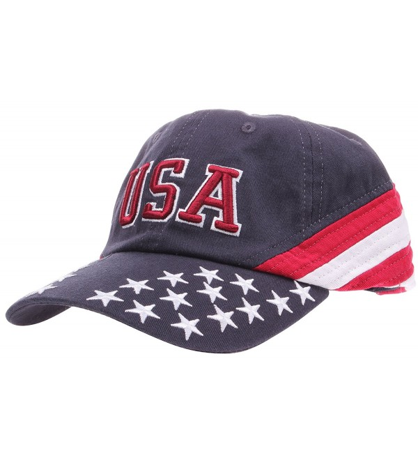 8eff22ae9 4th Of July Hats Men's Women's American Patriotic Red White Blue Baseball  Cap Hat Flag 7642c CB1820XA76K