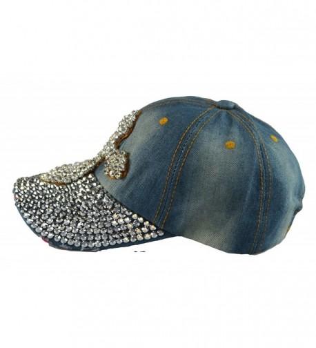 Vintage Baseball Rhinestones Printing snapback in Women's Baseball Caps