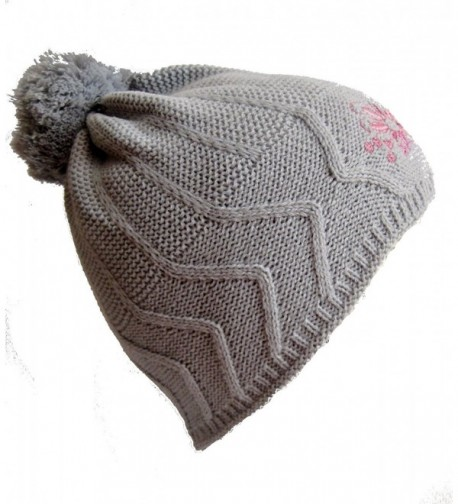 Frost Hats Winter Hat for Women and Girls Winter Ski Knitted Beanie Hat Frost Hats - Gray - C311B2NO6N3