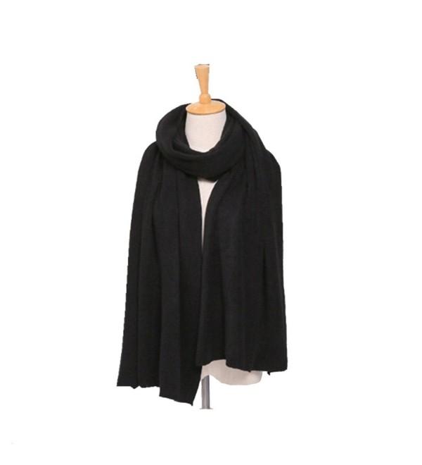 Women's Warm Long Soft Blanket Scarf Solid Pure Color Warm Shawl Scarf - 1 - C8188O4HTAE