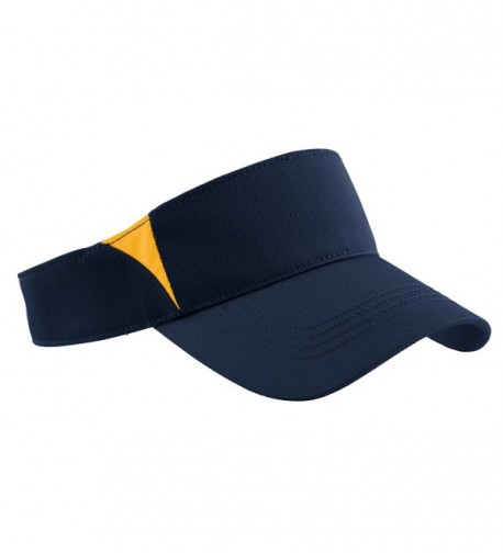 Sport-Tek Men's Dry Zone Colorblock Visor - True Navy/Gold - CI11QDSGS2J
