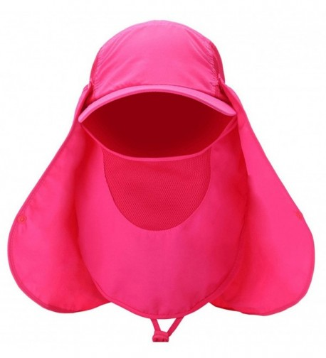 Sawadikaa Outdoor Mask Hat With Head Net Mesh Face Protection Sun Flap Cpas - Rose - CL18270XN32