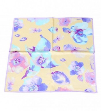 Neckerchief Square Scarves Floral Yellow in Fashion Scarves