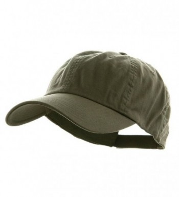 Mega Cap Low Profile Velcro Adjustable Cotton Twill Cap- Olive-One Size - CV1281GPPB5