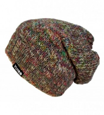 YUTRO Fashion Women's Slouchy Fleece Lined 100% Merino Wool Knitted Winter Beanie Hat 4 COLORS - Multi Color - CO11R1CT3F5