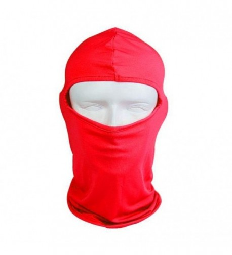 QueenTek UV Protective Motorcycle Balaclava Full Face Mask - Red - CX11G4XWKQ1