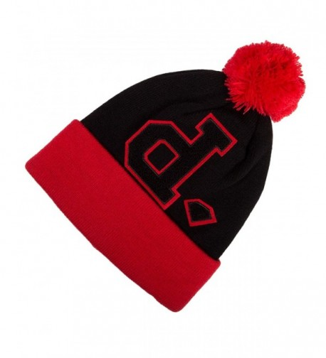 Diamond Supply Co UN-POLO POM Red Black One Size Cap Knit Beanie - CJ11HWJO29J