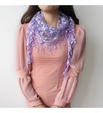 Fashion Triangle Floral Lightweight purple