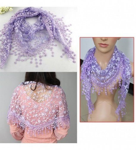 Fashion Triangle Floral Lightweight purple in Fashion Scarves