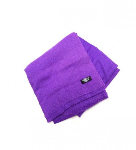 100% Cashmere Lightweight Soft Scarf Natural Dyes from Nepal - Violet - CI186OQGZA5