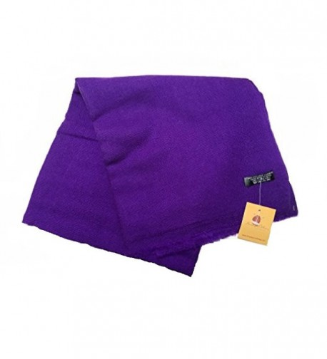 Cashmere Lightweight Scarf Natural Violet in Cold Weather Scarves & Wraps