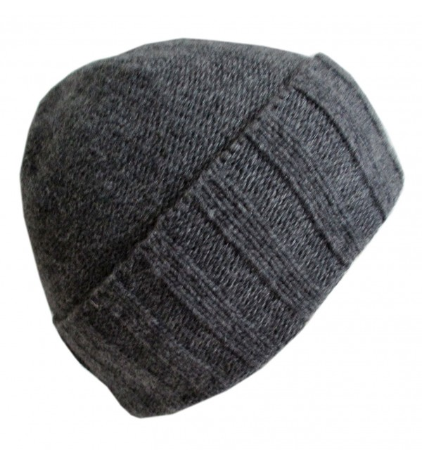 Frost Hats Luxurious Cashmere Classic Unisex Beanie CSH-N804 - Charcoal - C0129GGO9AB