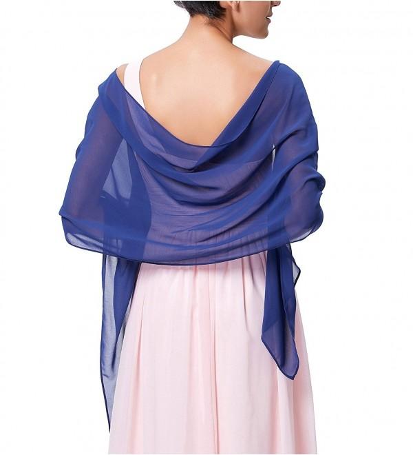 8d7939adb12 Charming Soft Chiffon Bridal Evening Party Scarves Shawls for Special  Occasion Royal Blue CE188RDG4WU