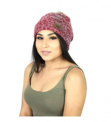 Cable Knit Beanie Stretch Winter