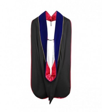 Lescapsgown Doctoral Hood with Gold Piping - Blueredwhite - CZ12N3AXRRN