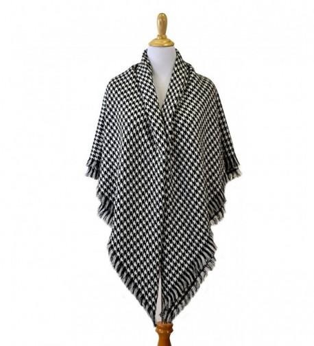 Nom Houndstooth Check Pattern Blanket