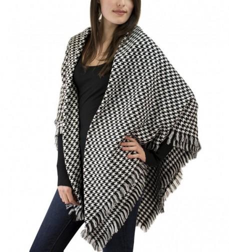 Nom Houndstooth Check Pattern Blanket in Fashion Scarves