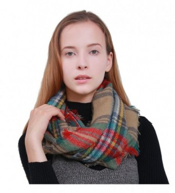 MissShorthair Infinity Checked Blanket Pattern in Cold Weather Scarves & Wraps