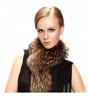 FURTALK Natural Raccoon Jacket Collar in Cold Weather Scarves & Wraps