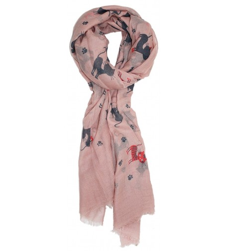 Ted and Jack - Krazy Kittens Allover Print Scarf - Rose - CZ12F3YAI0Z