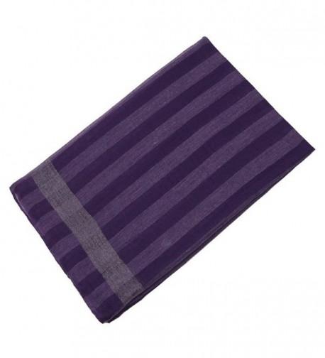 Striped Lightweight Shawls Elegant Scarves