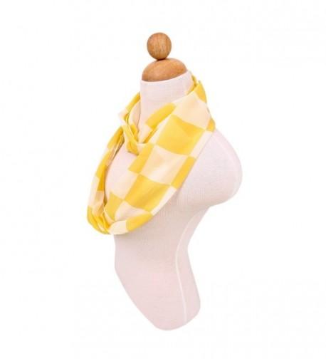 Chiffon Checked Infinity Fashion Yellow