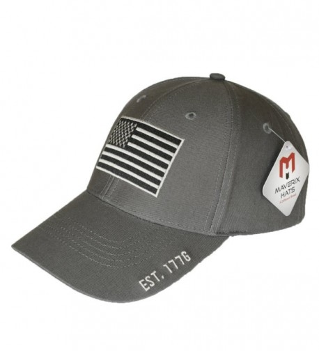 Maverix American Flag Hat - Great Fit- High Quality- Amazing Details - Dark Gray - CX184DMN990